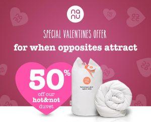 Nanu Hot&Not duvet offer code discount